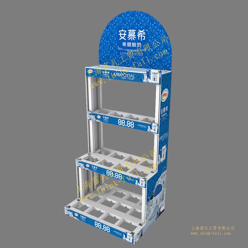 酸奶塑料积木组合展示架
